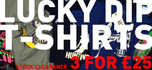 LUCKY DIP T SHIRTS (3 for £25)